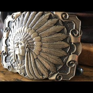 Accessories - Solid brass cast belt buckle